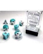 Gemini Polyhedral Teal-White/black 7-Die Set