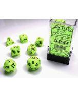 Vortex Bright Green w/black Polyhedral 7-Die Set