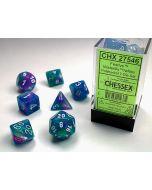 Festive Polyhedral Waterlily/white 7-Die Set