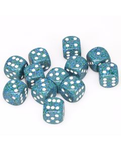 Set of 12 Speckled 16mm Sea Dice