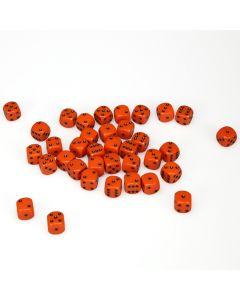 12mm d6 Dice Block - Orange with Black - Opaque (36)