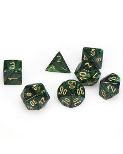 Scarab Polyhedral Jade/gold 7-Die Set