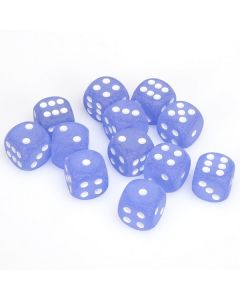 Frosted 16mm d6 Blue/white Dice Block