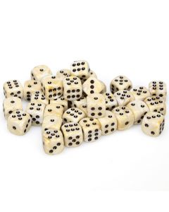 Marble 12mm d6 Ivory/black Dice Block