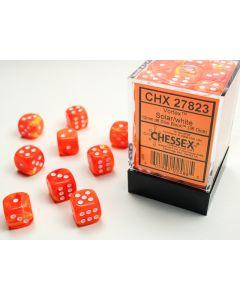 Vortex 12mm d6 Solar/white Dice Block (36 dice)