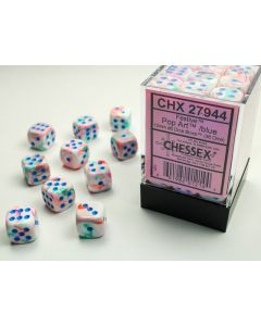 Festive 12mm d6 Pop Art/blue Dice Block (36 dice)