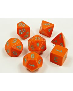 Heavy Dice Polyhedral Orange/turquoise 7-Die Set