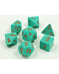 Heavy Dice Polyhedral Turquoise/orange 7-Die Set