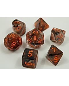 Nebula Polyhedral Copper Matrix/orange Luminary 7-Die Set
