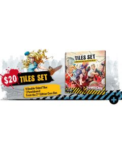 Zombicide: 2nd Edition: Tiles Set-9 Double-Sided Game Tiles