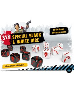 Zombicide: 2nd Edition: Special Black & White Dice
