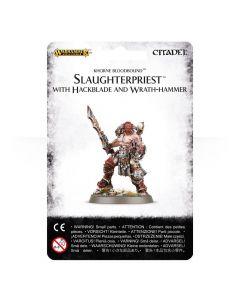 Warhammer AoS: Khorne Bloodbound: Slaughterpriest With Hackblade and Wrath-hammer
