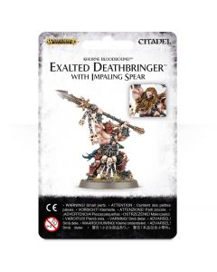 Warhammer AoS: Khorne Bloodbound: Exalted Deathbringer with Impaling Spear