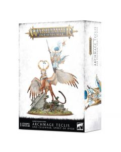 Warhammer AoS: Lumineth Realm-lords: Archmage Teclis and Celennar, Spirit of Hysh
