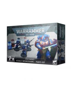 Warhammer 40k: Space Marines: Assault Intercessors + Paints Set