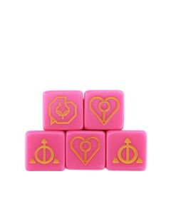 Ashes: Pink Charm Dice (5X)