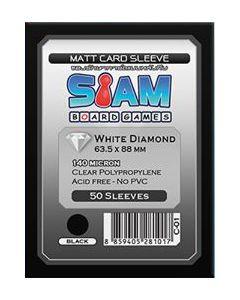 ซองใส่การ์ด White Diamond Matte 63.5 x 88 mm (140 micron) สีดำ