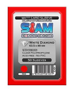 White Diamond Matte Sleeve 63.5 x 88 mm (140 micron) Red