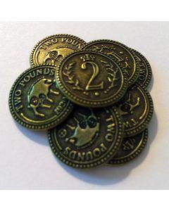 Scythe: set of fifteen $2 Albion metal coins