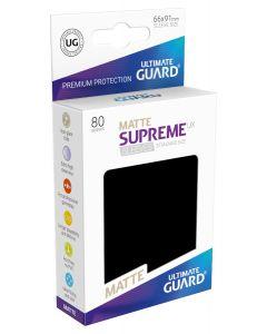 Supreme UX Matte Sleeves Standard Size (80) Black