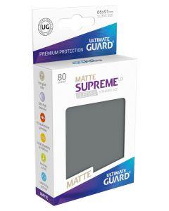 Supreme UX Matte Sleeves Standard Size (80) Dark Grey