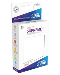 Supreme UX Matte Sleeves Standard Size (80) White