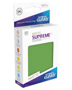 Supreme UX Matte Sleeves Standard Size (80) Green