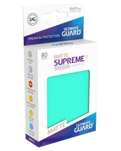 Supreme UX Matte Sleeves Standard Size (80) Turquoise