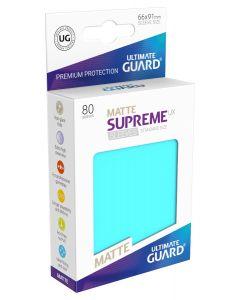 Supreme UX Matte Sleeves Standard Size (80) Aquamarine