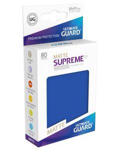 Supreme UX Matte Sleeves Standard Size (80) Blue