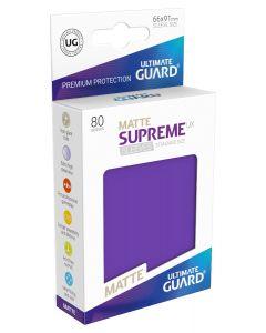Supreme UX Matte Sleeves Standard Size (80) Purple