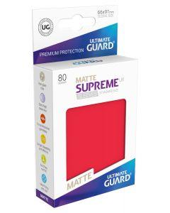 Supreme UX Matte Sleeves Standard Size (80) Red