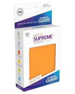 Supreme UX Matte Sleeves Standard Size (80) Orange