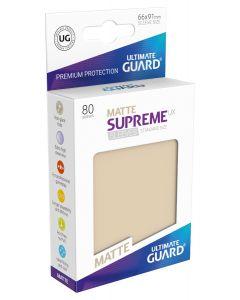 Supreme UX Matte Sleeves Standard Size (80) Sand
