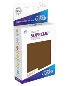 Supreme UX Matte Sleeves Standard Size (80) Brown