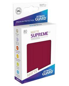 Supreme UX Matte Sleeves Standard Size (80) Burgundy