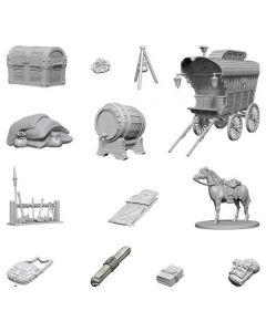Dungeons & Dragons: Nolzur's Marvelous Unpainted Miniatures: Adventurer's Campsite